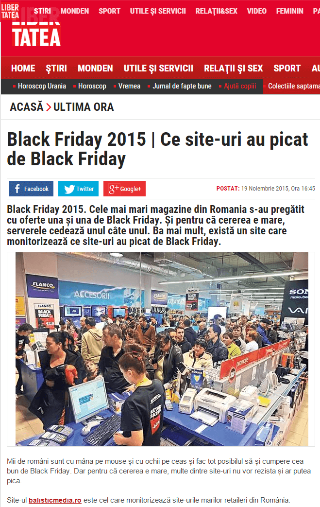 libertatea black friday monitor