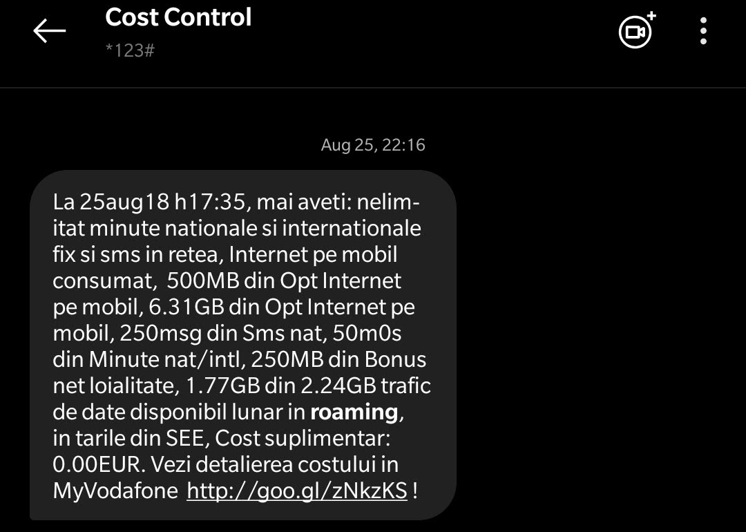 vodafone cost control roaming august 2018